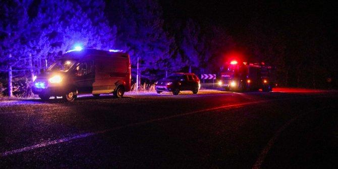 Kütahya'da otomobil şarampole devrildi: 5 yaralı