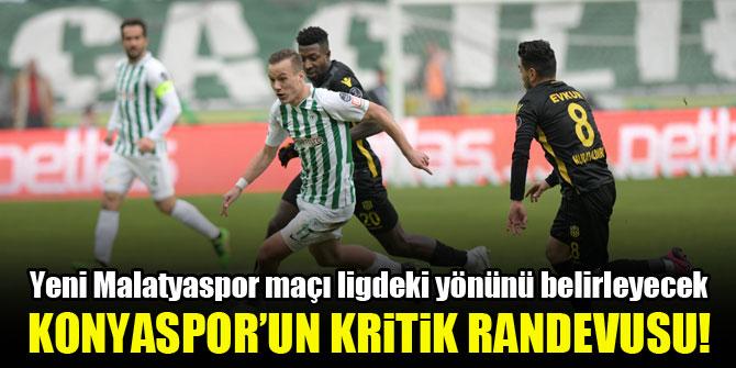 Konyaspor kritik maçta Yeni Malatyaspor'u konuk ediyor