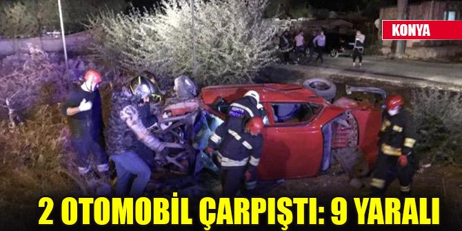 2 otomobil çarpıştı: 9 yaralı