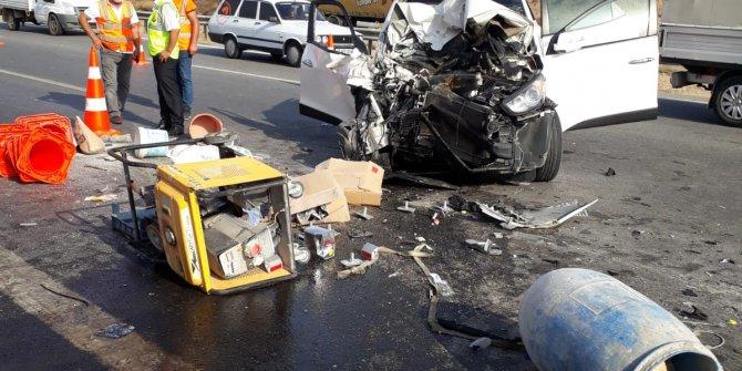 Yol bakım işçisi, kazada hayatını kaybetti