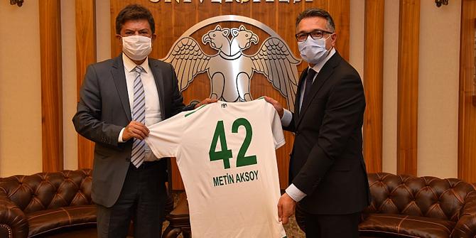 Başkan Renklibay'dan Rektör Aksoy'a ziyaret