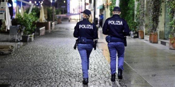 İtalya'da sokağa çıkma yasağı olaylı başladı