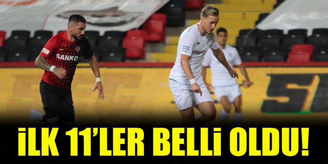Gaziantep FK - Konyaspor | İLK 11'LER!