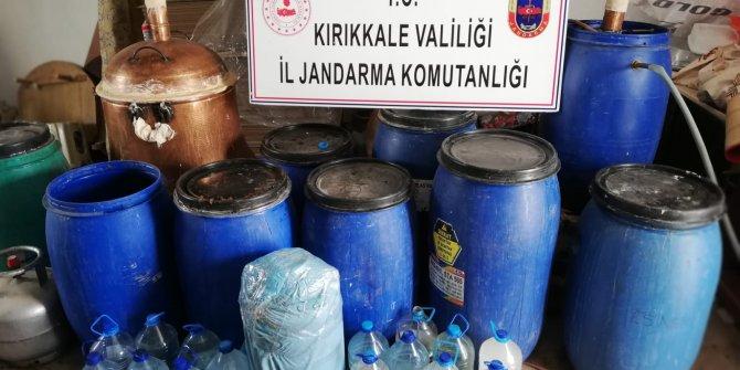 Kırıkkale'de 1150 litre sahte içki ele geçirildi