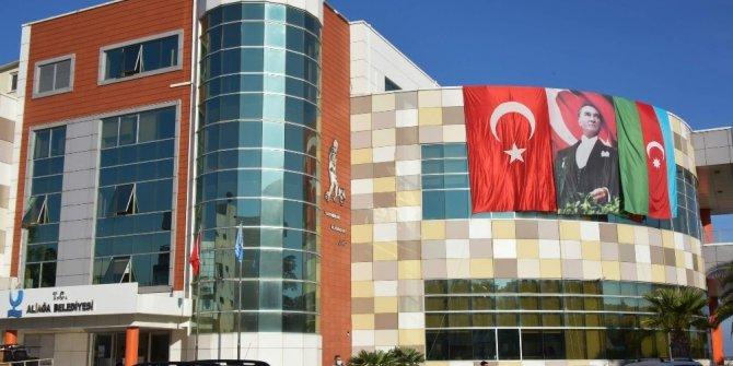 Kardeş ülke Azerbaycan'a Cumhuriyet Bayramında bayraklı destek
