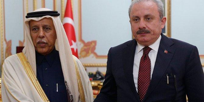 Katar Meclis Başkanı Mahmud'dan TBMM Başkanı Şentop'a taziye telefonu