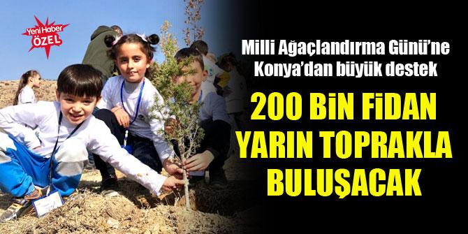 Milli Ağaçlandırma Günü'ne Konya'dan büyük destek