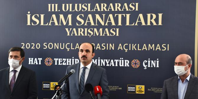 3. Uluslararası İslam Sanatları Yarışması sonuçlandı
