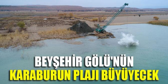 Beyşehir Gölü'nün Karaburun plajı büyüyecek