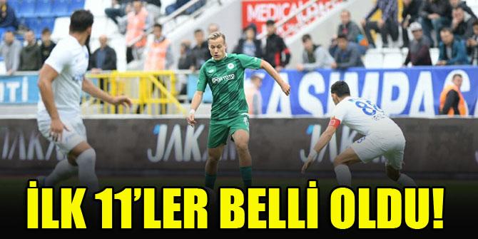 Konyaspor - Kasımpaşa   İLK 11'LER!