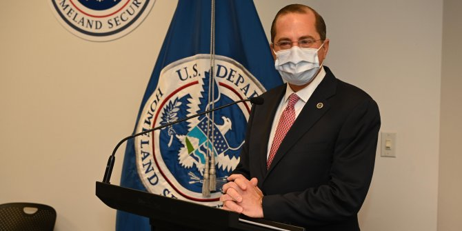 ABD Sağlık ve Sosyal Hizmetler Bakanı Azar'dan koronavirüs aşısı açıklaması