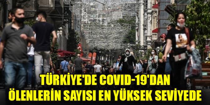 Türkiye'de COVID-19'dan ölenlerin sayısı en yüksek seviyede