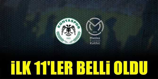 İttifak Holding Konyaspor - Manisa FK | İLK 11'LER BELLİ OLDU
