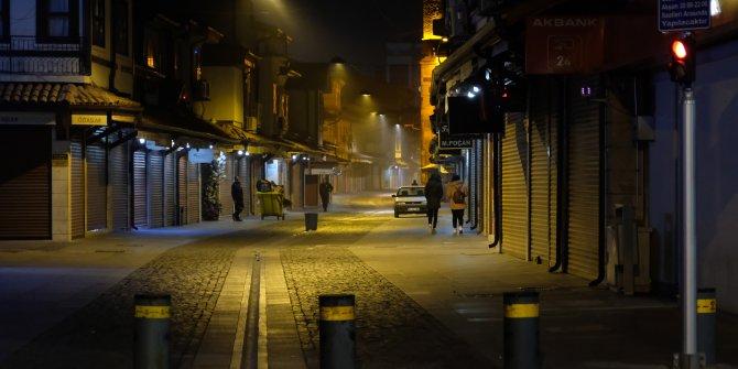 Konya'da sokaklar boş kaldı