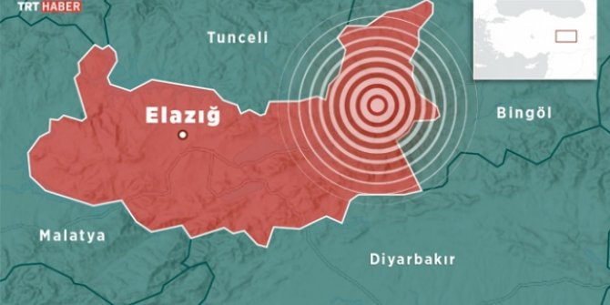 Elazığ'da 3,7 büyüklüğünde deprem