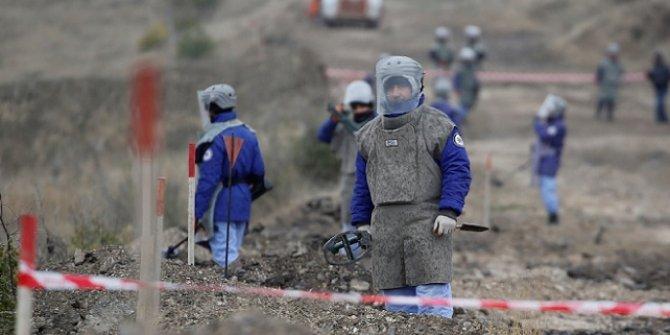 Karabağ'da mayın temizliği sürüyor