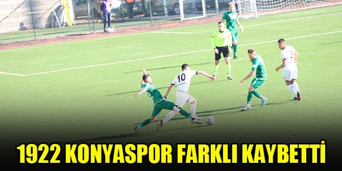 1922 Konyaspor farklı kaybetti