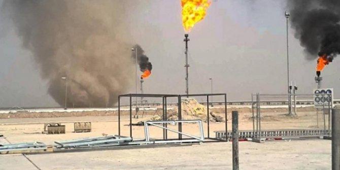 Irak'ta füze saldırısı düzenlenen petrol rafinerisinde yangın