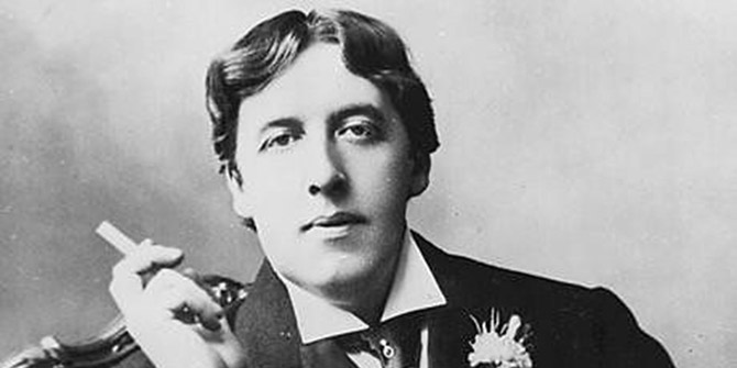 Oscar Wilde committed suicide saying 'one of us must go'