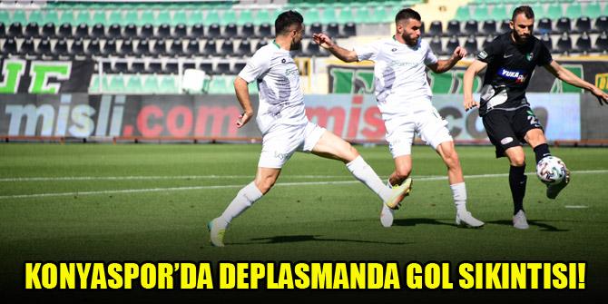 Konyaspor'da deplasmanda gol sıkıntısı!