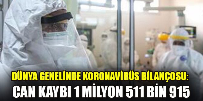 Dünya genelinde koronavirüs bilançosu: Can kaybı 1 milyon 511 bin 915