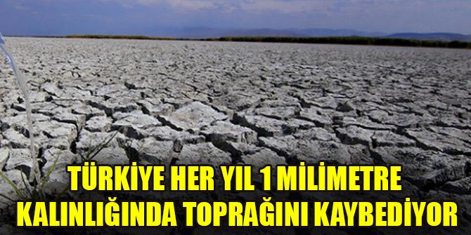 Türkiye her yıl 1 milimetre kalınlığında toprağını kaybediyor