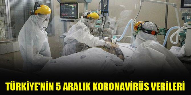 Türkiye'nin 5 Aralık koronavirüs verileri