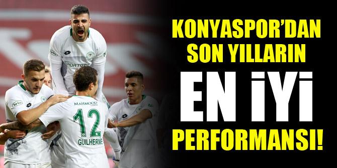 Konyaspor'dan son yılların en iyi performansı!