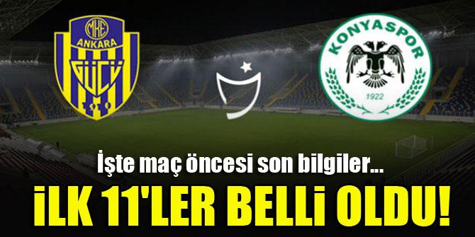 MKE Ankaragücü - Konyaspor | İLK 11'LER!