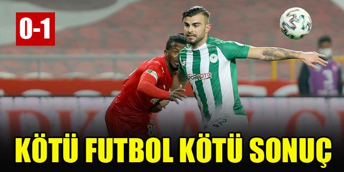Kötü futbol, kötü sonuç! Konyaspor 0-1 Sivasspor