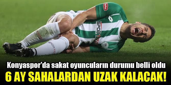 Konyaspor'da sakat oyuncuların durumu belli oldu! 6 ay sahalardan uzak kalacak