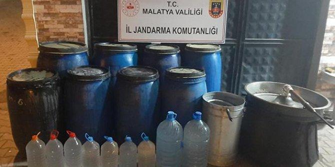 Malatya'da 2 ton sahte içki ele geçirildi