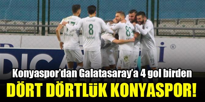 Dört dörtlük Konyaspor! Konyaspor 4-3 Galatasaray