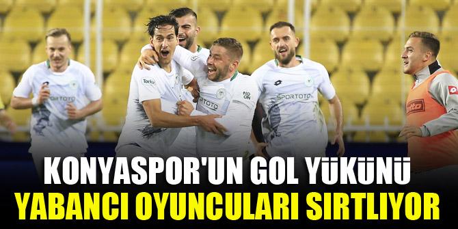 Konyaspor'un gol yükünü yabancı oyuncuları sırtlıyor