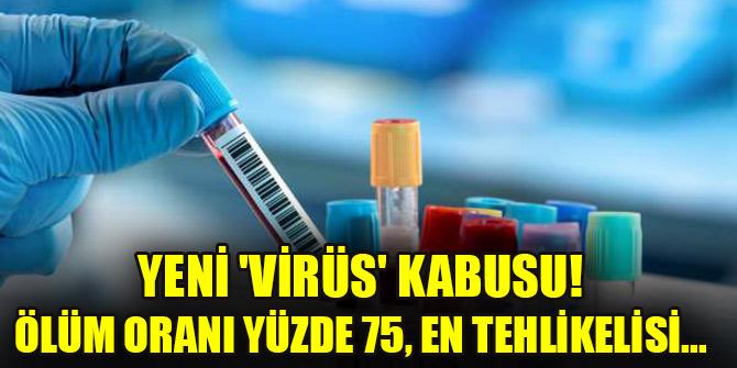 Yeni 'virüs' kabusu! Ölüm oranı yüzde 75, en tehlikelisi...