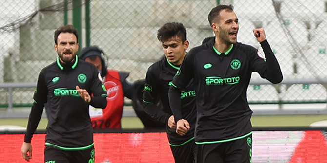 Konyaspor'da Anicic golle döndü