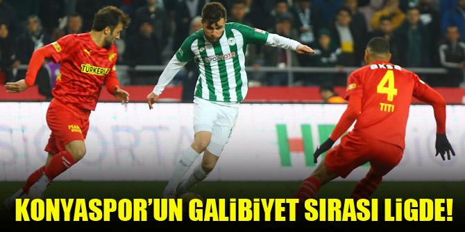 Konyaspor'un galibiyet sırası ligde!