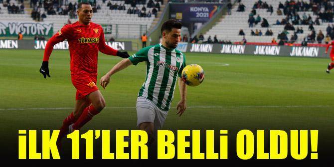 Konyaspor - Göztepe | İLK 11'LER