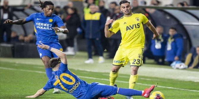 MKE Ankaragücü Süper Lig'de Fenerbahçe'ye konuk olacak