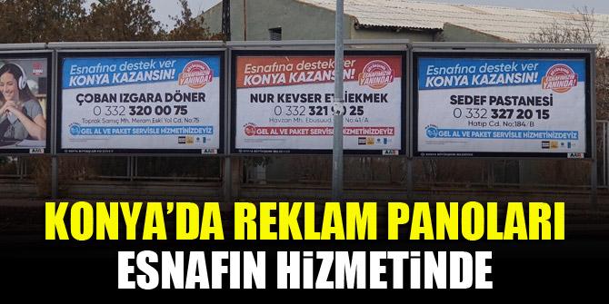 Konya'da reklam panoları esnafın hizmetinde