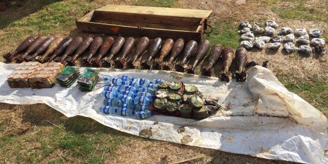 Tel Abyad'da terör örgütü PKK/YPG'nin patlayıcıları ele geçti