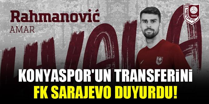 Konyaspor'un transferini FK Sarajevo duyurdu!