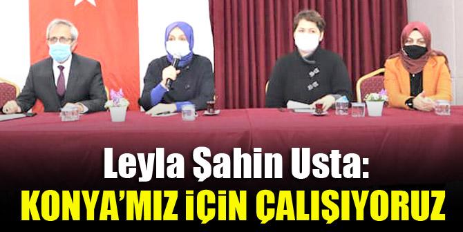 Leyla Şahin Usta: Konya'mız için çalışıyoruz