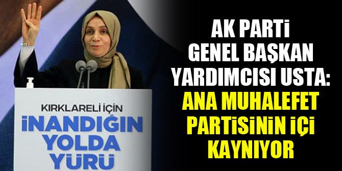 AK Parti Genel Başkan Yardımcısı Usta: Ana muhalefet partisinin içi kaynıyor