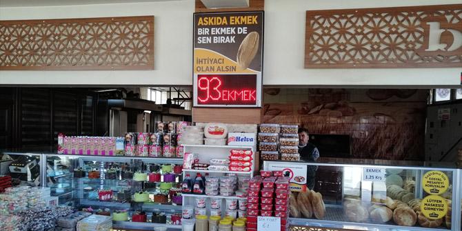 Konya'da fırıncıdan ihtiyaç sahiplerine askıda ekmek uygulaması