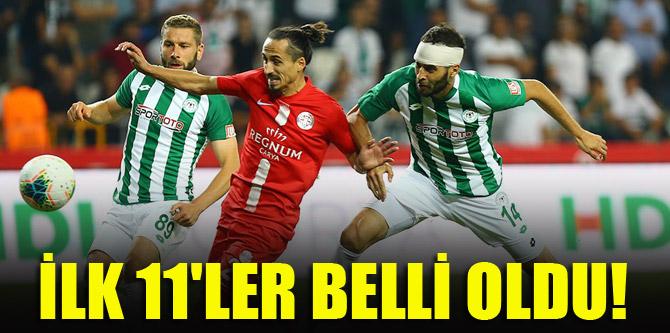 Konyaspor - Antalyaspor | İLK 11'LER BELLİ OLDU!