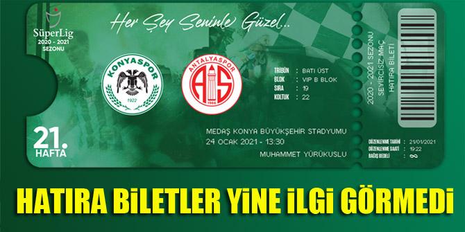 Konyaspor'da hatıra biletler yine ilgi görmedi