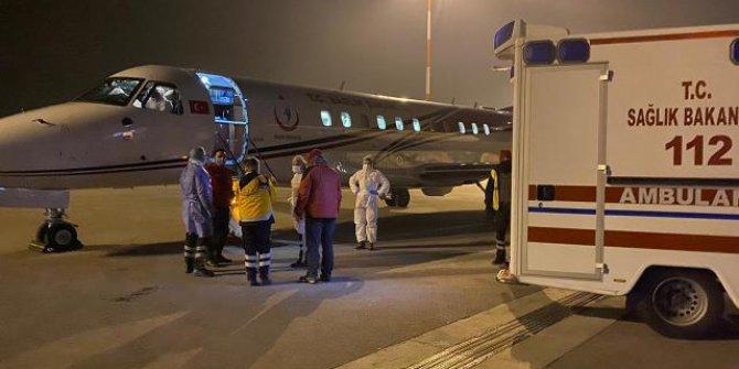 Koronavirüs hastası Hollanda'dan ambulans uçakla Türkiye'ye getirildi