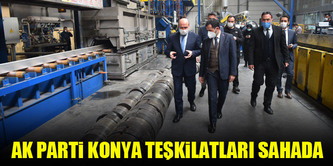 AK Parti Konya teşkilatları sahada
