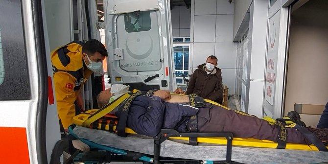 Çatıyı tamir ederken düşen işçi yaralandı